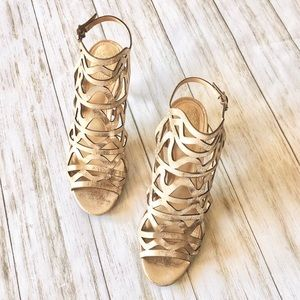 Vince Camuto Gold Heels